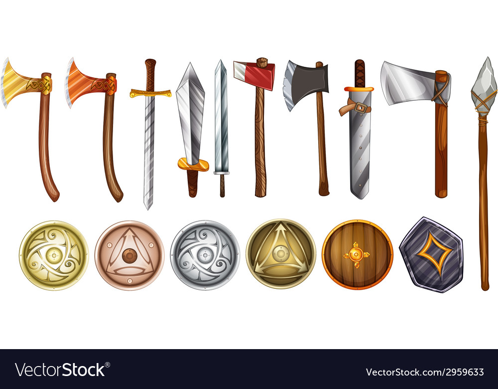 Weapons and shields vector   Price: 1 Credit (USD $1)