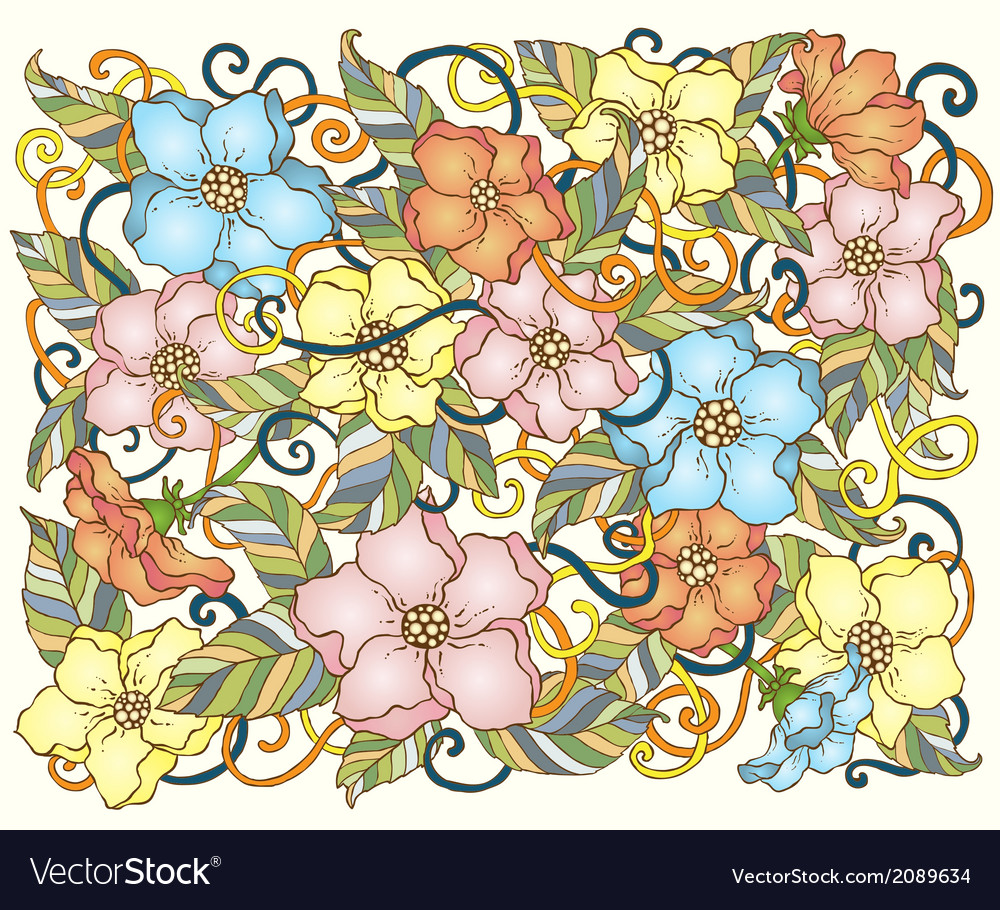 Abstract hand drawn pattern card vector | Price: 1 Credit (USD $1)