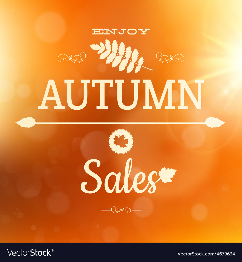 Autumn sale poster background eps 10 vector | Price: 1 Credit (USD $1)