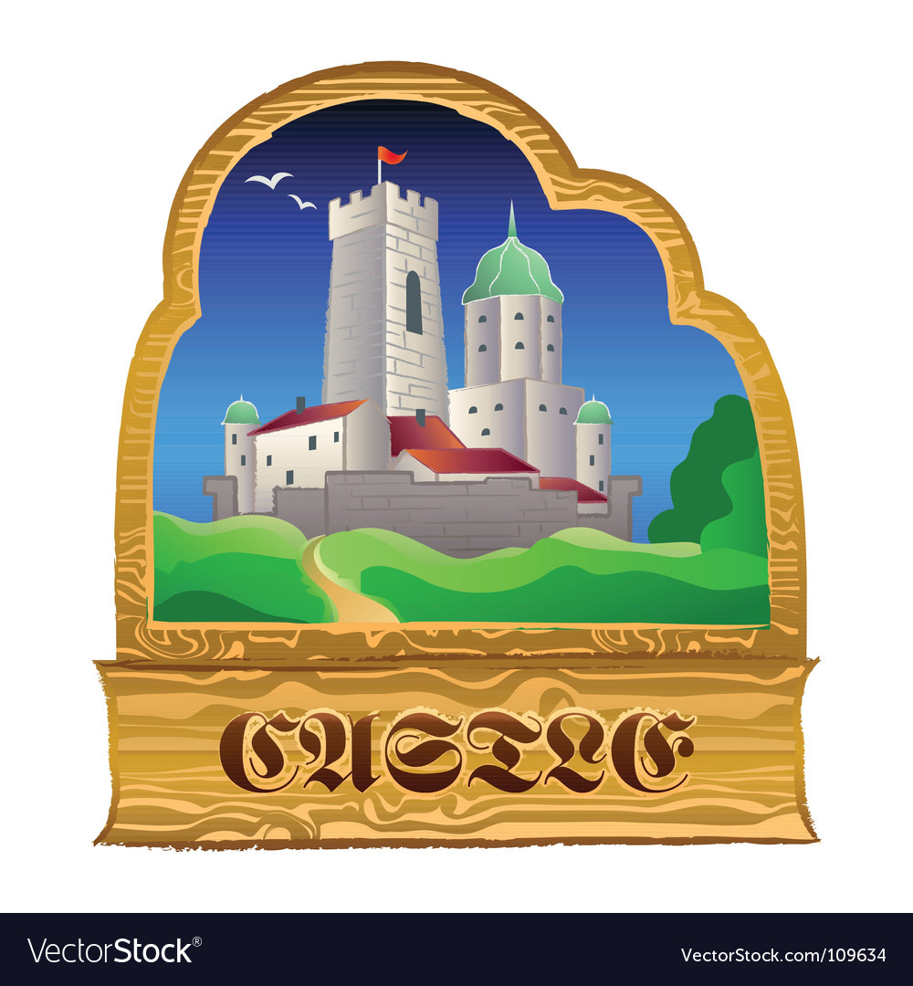 Castle sign vector | Price: 1 Credit (USD $1)
