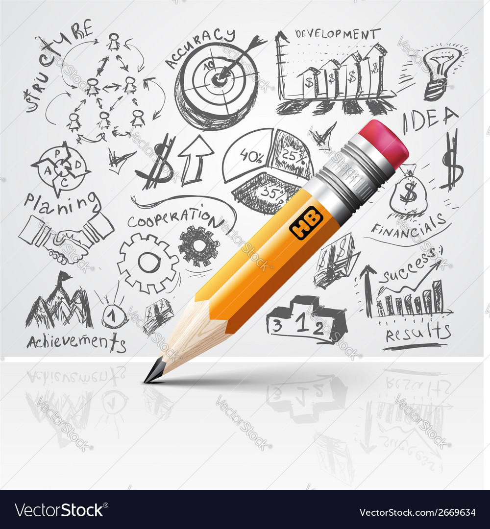 Creative pencil idea vector | Price: 1 Credit (USD $1)