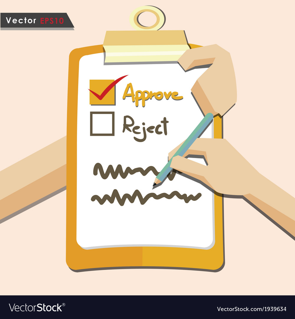 Evaluation approve quality check vector | Price: 1 Credit (USD $1)