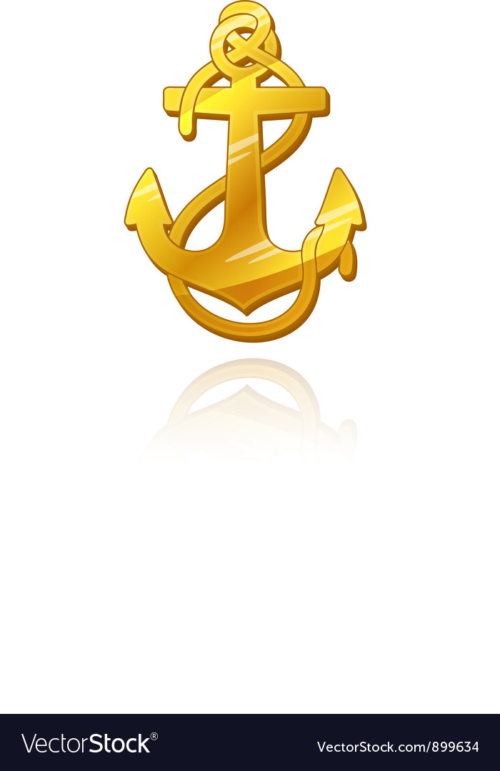 Gold anchor vector | Price: 1 Credit (USD $1)