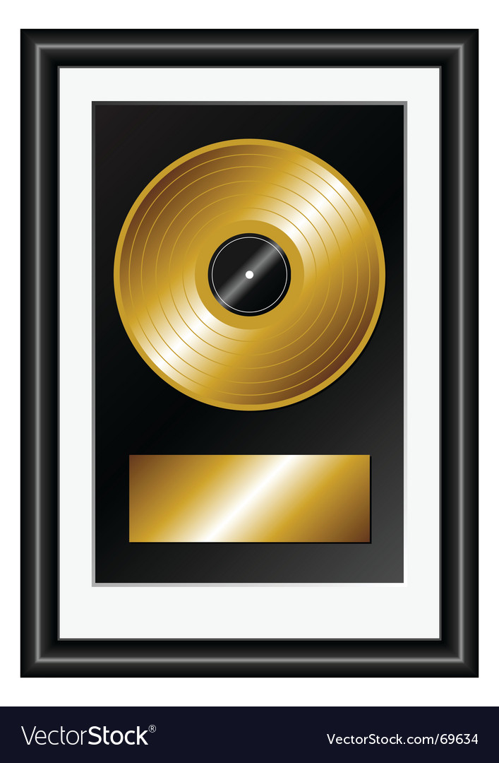 Golden record vector | Price: 1 Credit (USD $1)