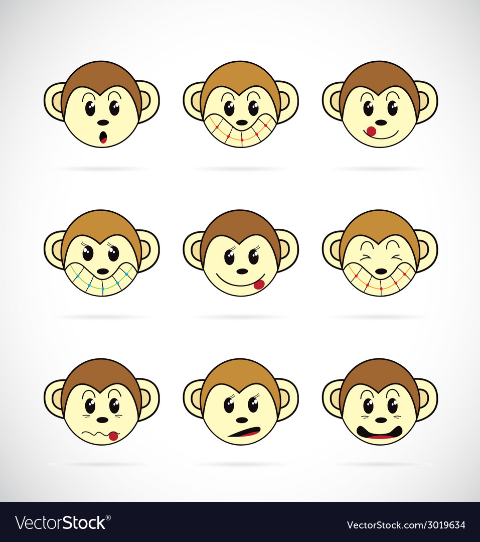 Monkey head vector | Price: 1 Credit (USD $1)