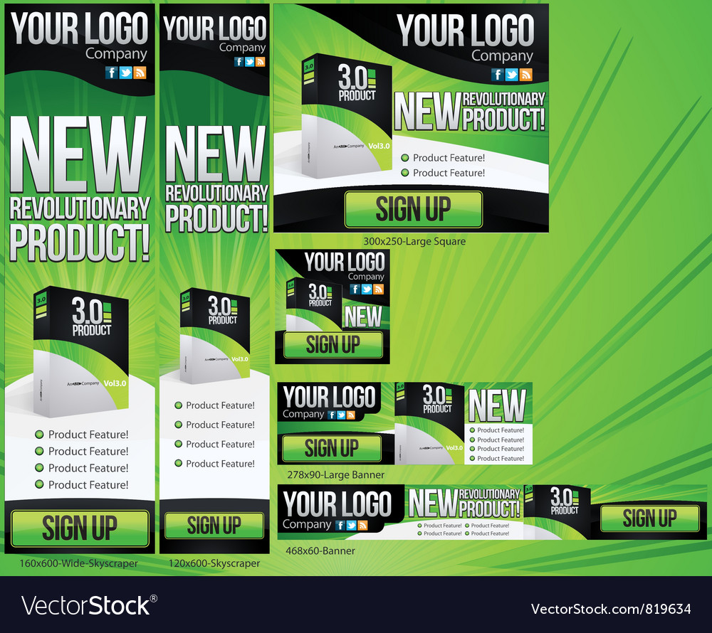 New product 6 banner set vector | Price: 3 Credit (USD $3)