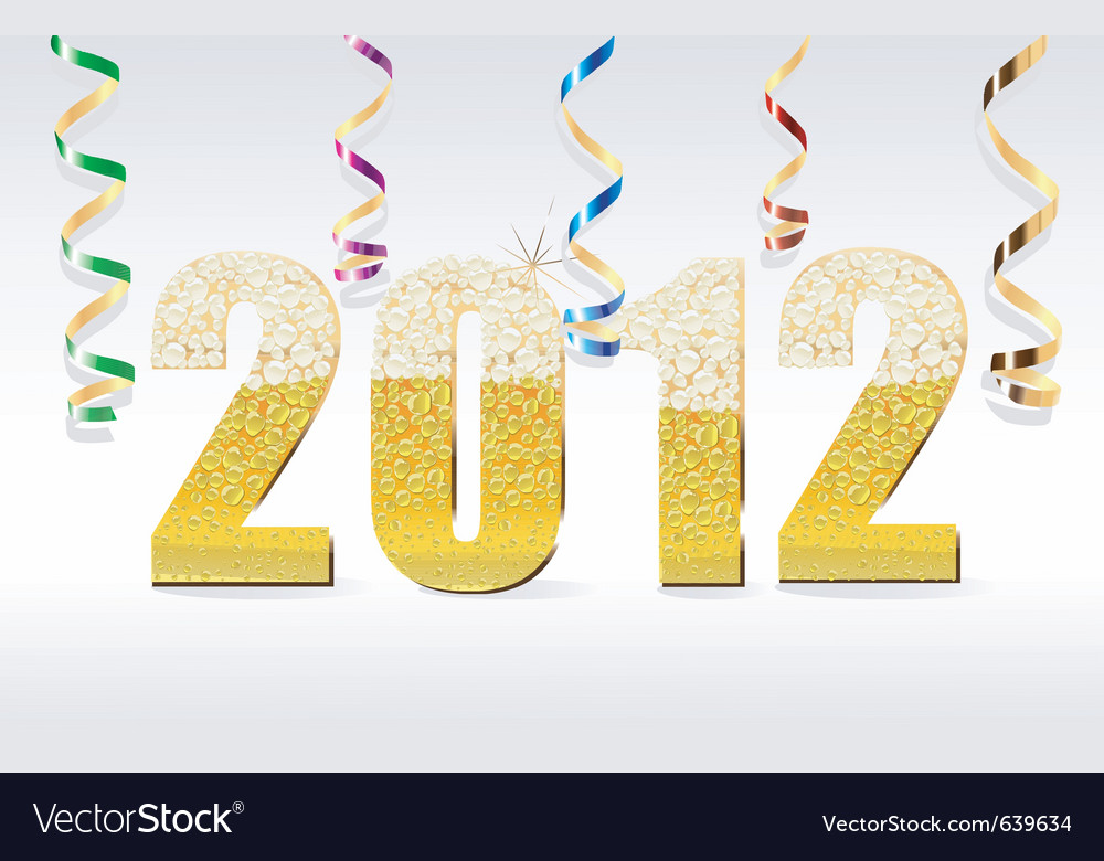 New year card 2012 vector | Price: 1 Credit (USD $1)
