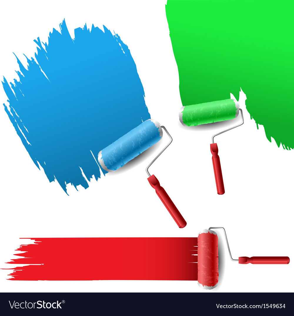 Painting roller set for text background vector | Price: 1 Credit (USD $1)