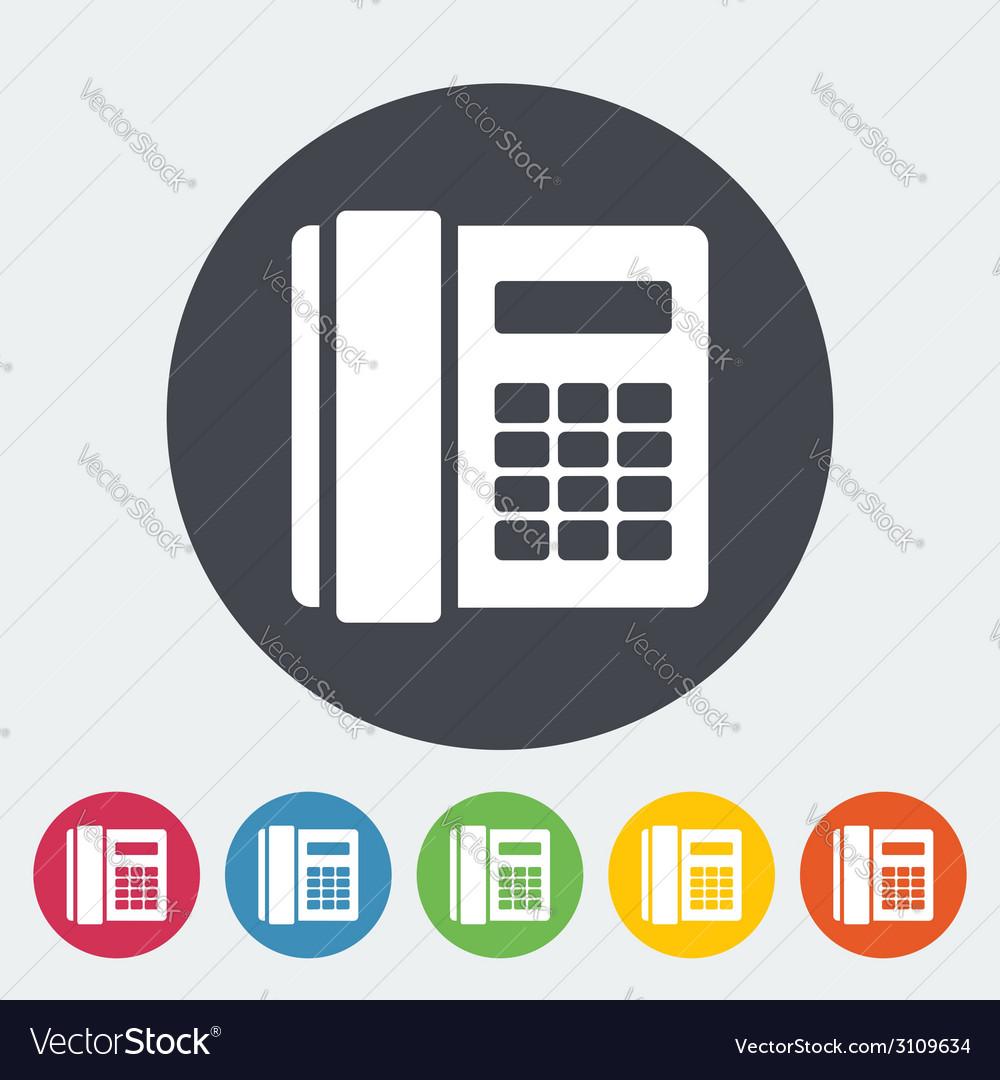 Phone single flat icon vector   Price: 1 Credit (USD $1)