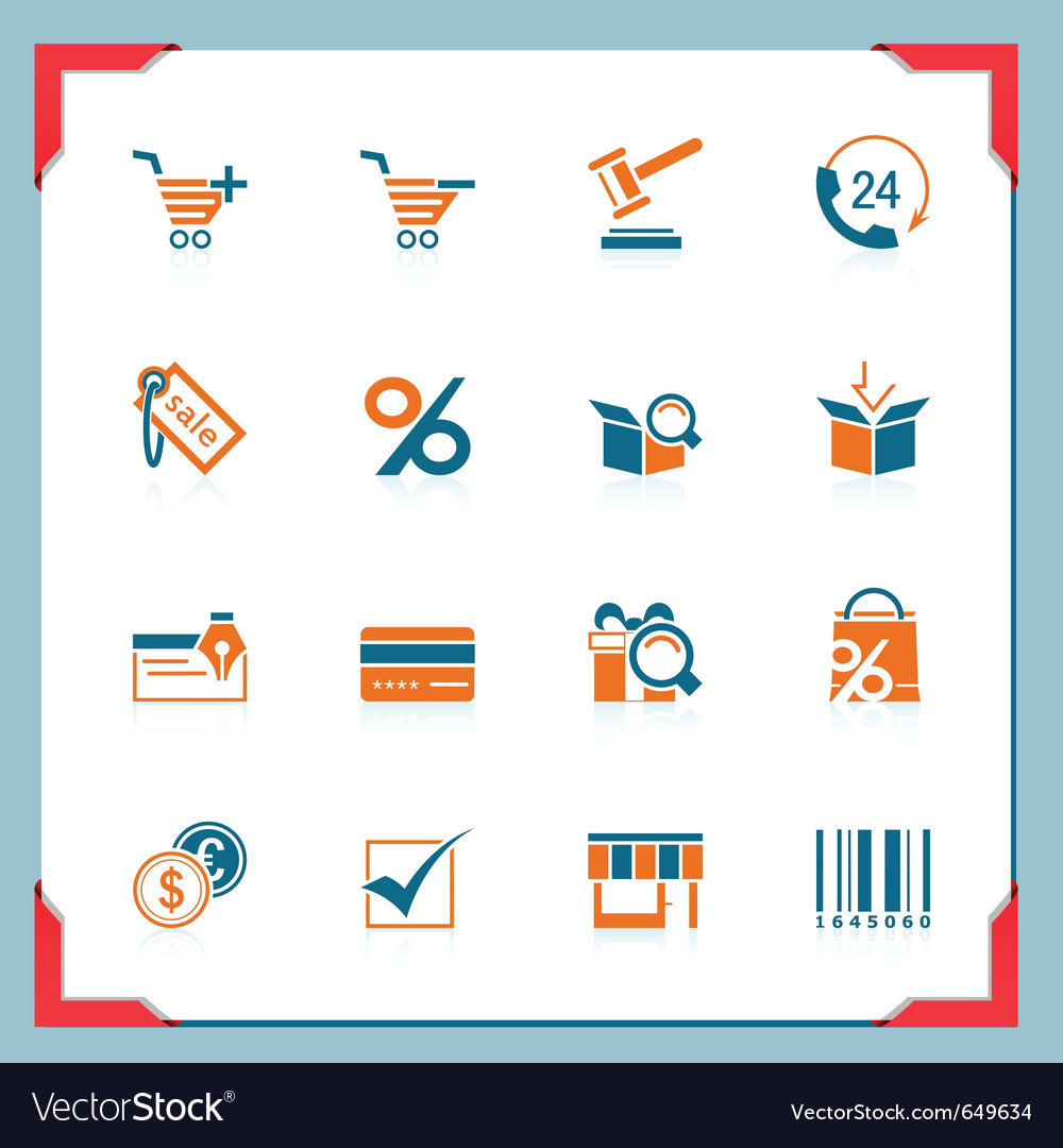 Shopping icons in a frame series vector | Price: 1 Credit (USD $1)