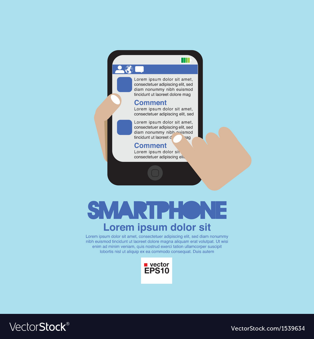 Smartphone in hand eps10 vector | Price: 1 Credit (USD $1)