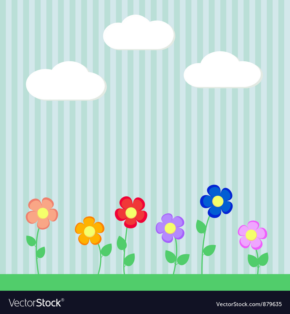 Background with flowers for scrapbook vector | Price: 1 Credit (USD $1)