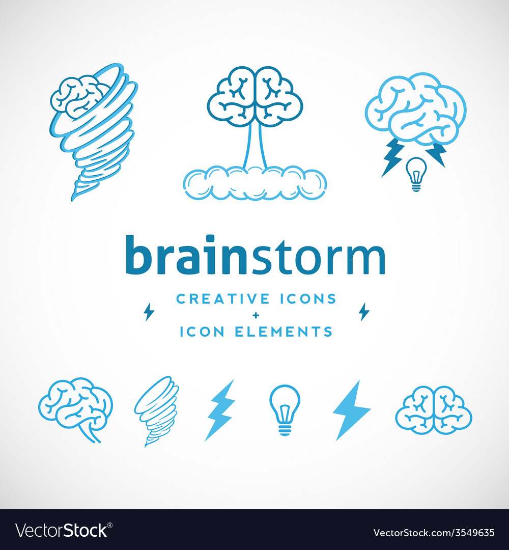 Brainstorm abstract creative logo template vector | Price: 1 Credit (USD $1)