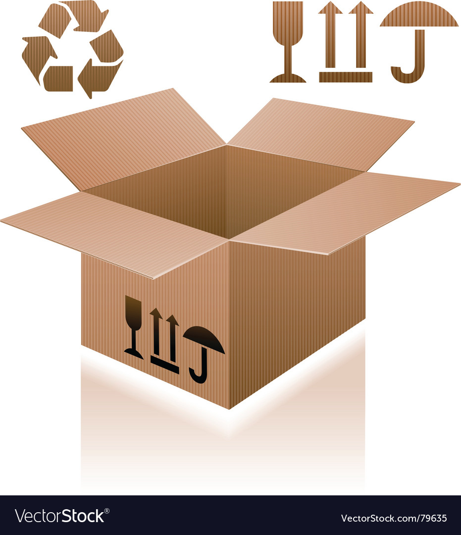 Cardboard box vector | Price: 3 Credit (USD $3)