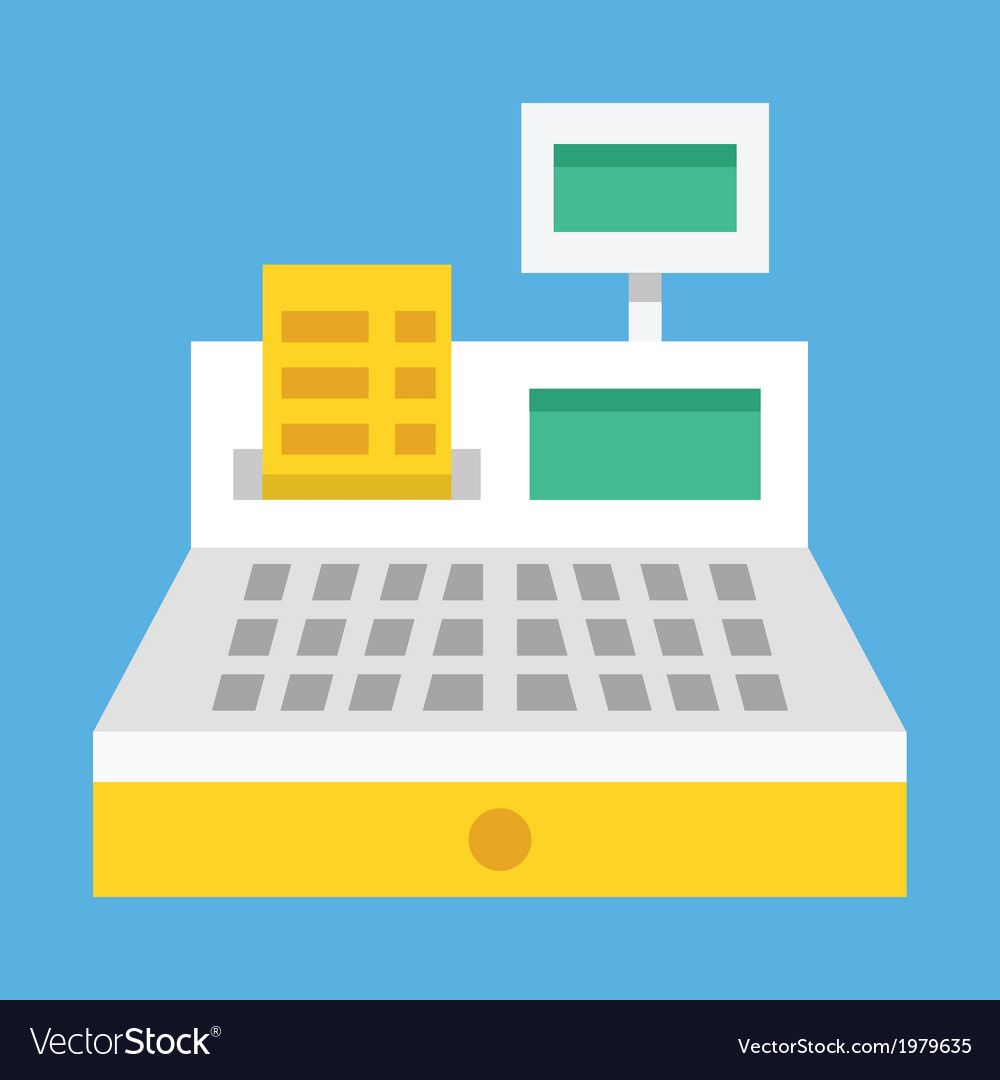 Cash register icon vector | Price: 1 Credit (USD $1)