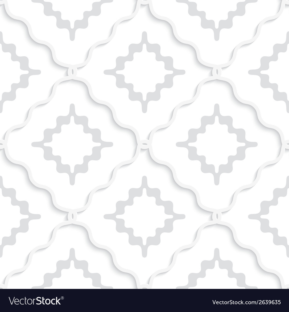 Diagonal white wavy squares pattern vector | Price: 1 Credit (USD $1)