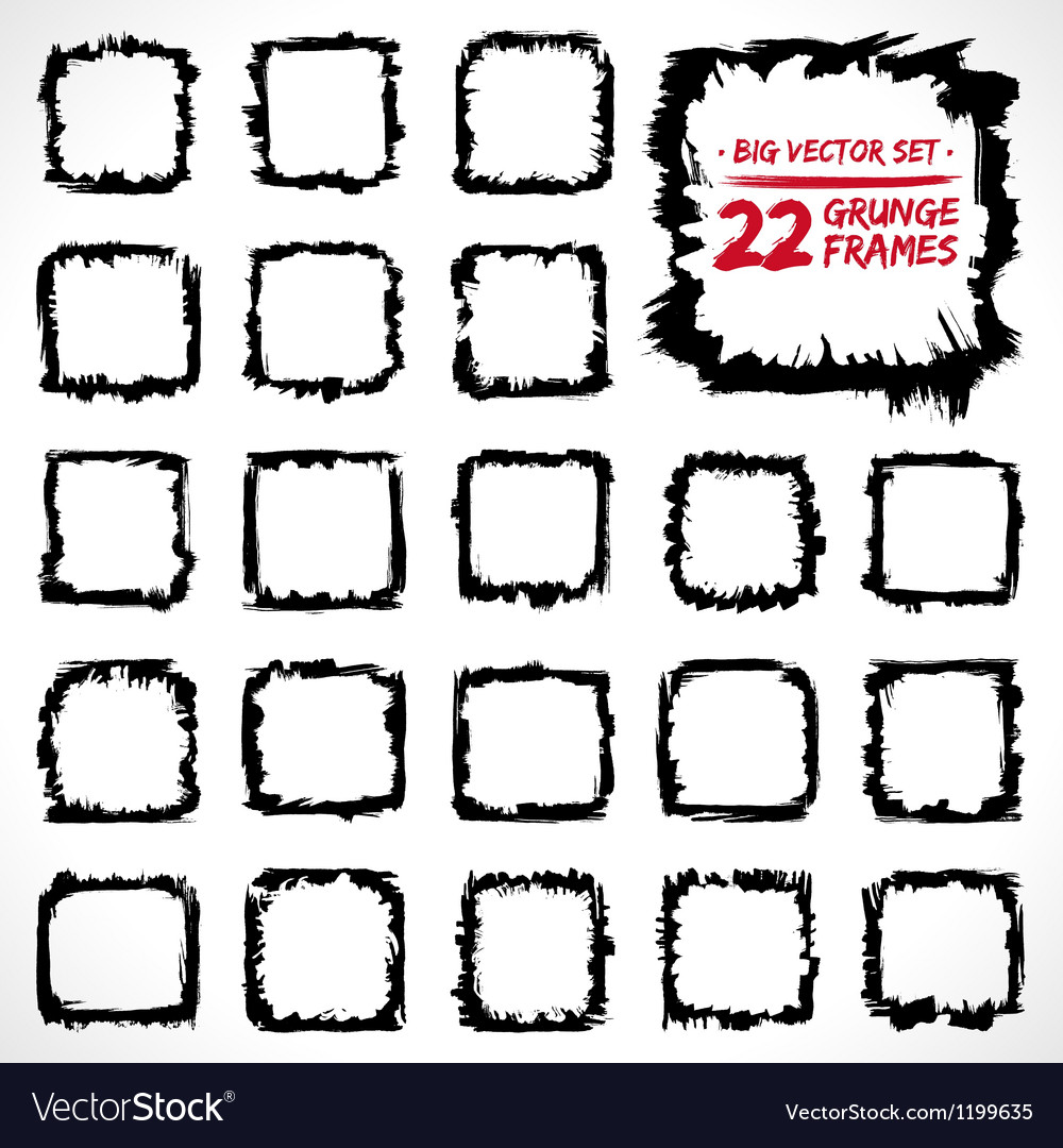 Grunge frames set vector | Price: 1 Credit (USD $1)