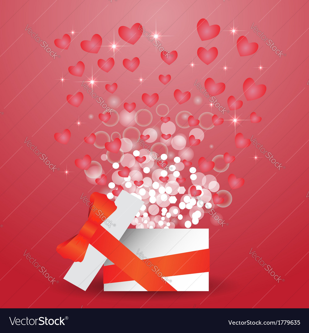 Heart box vector | Price: 1 Credit (USD $1)