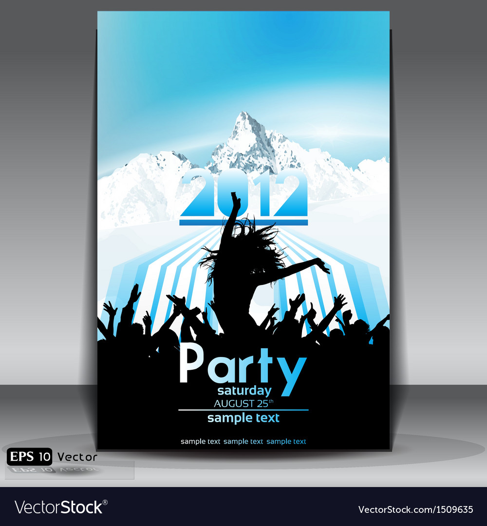 Mountain party flyer vector | Price: 1 Credit (USD $1)
