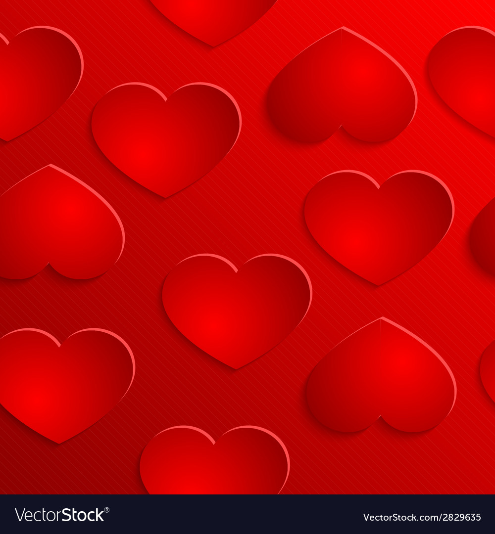 Red heart seamless background pattern vector | Price: 1 Credit (USD $1)
