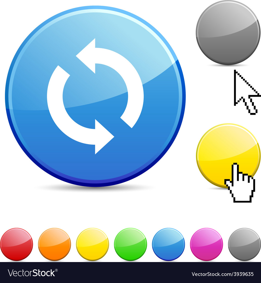 Refresh glossy button vector | Price: 1 Credit (USD $1)