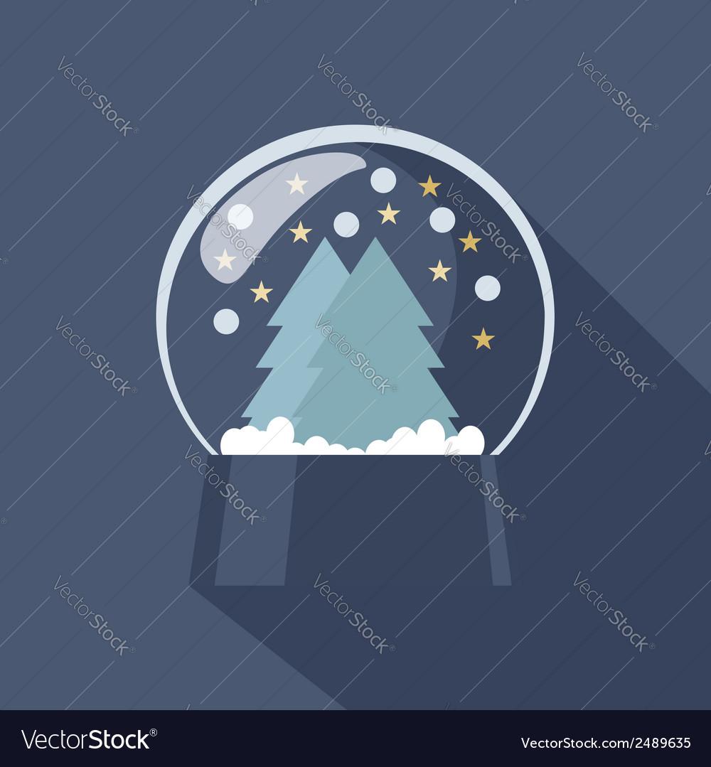 Snow globe icon vector | Price: 1 Credit (USD $1)