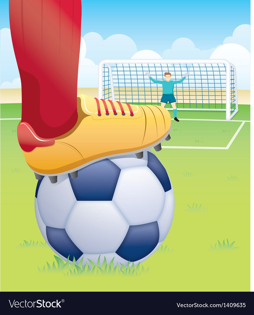 Soccer player penalty kick vector | Price: 1 Credit (USD $1)