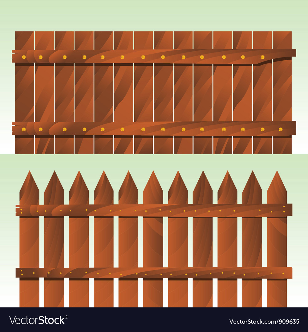 Wooden fence vector | Price: 3 Credit (USD $3)