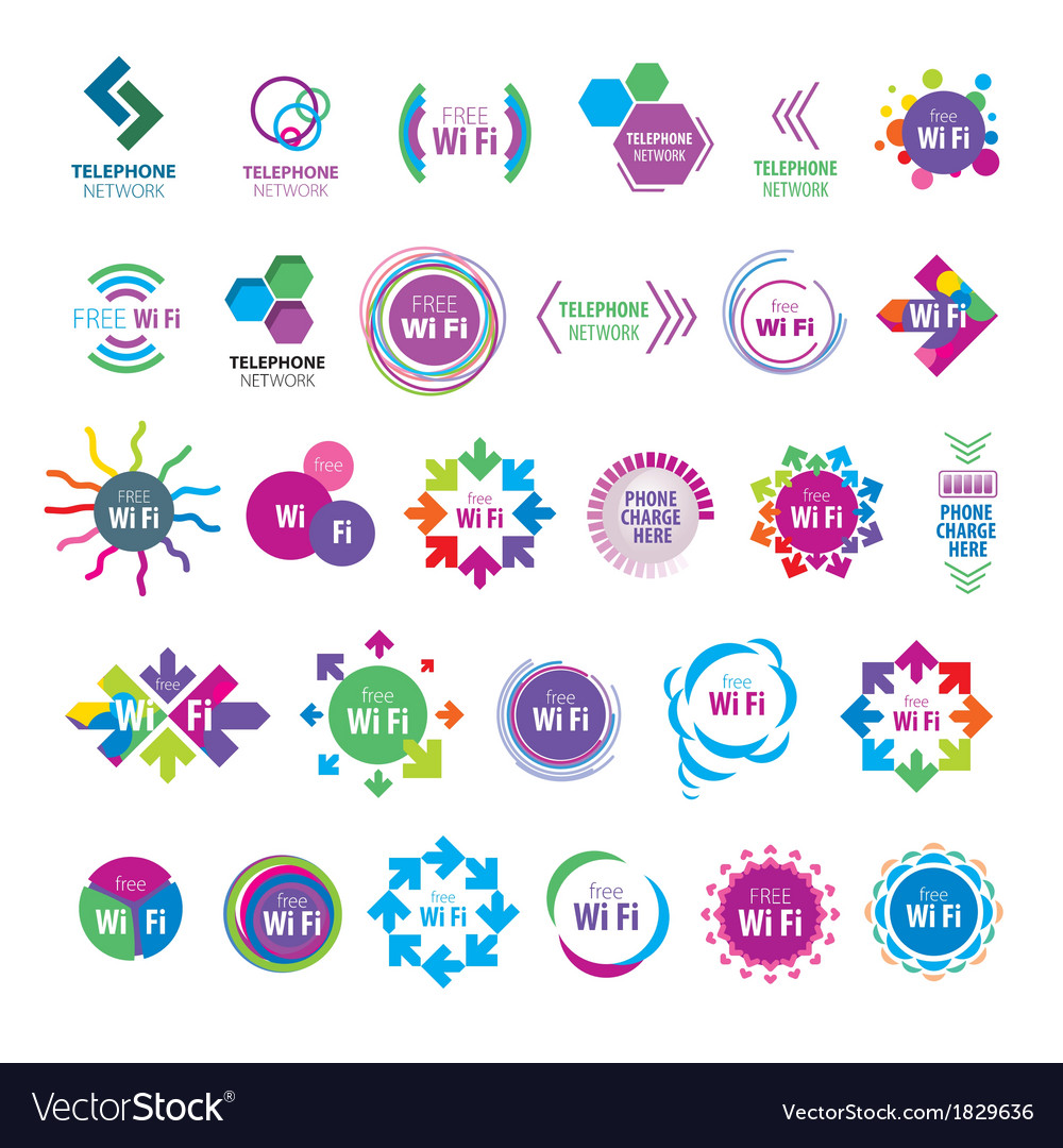 Biggest collection of logos wi fi vector | Price: 1 Credit (USD $1)