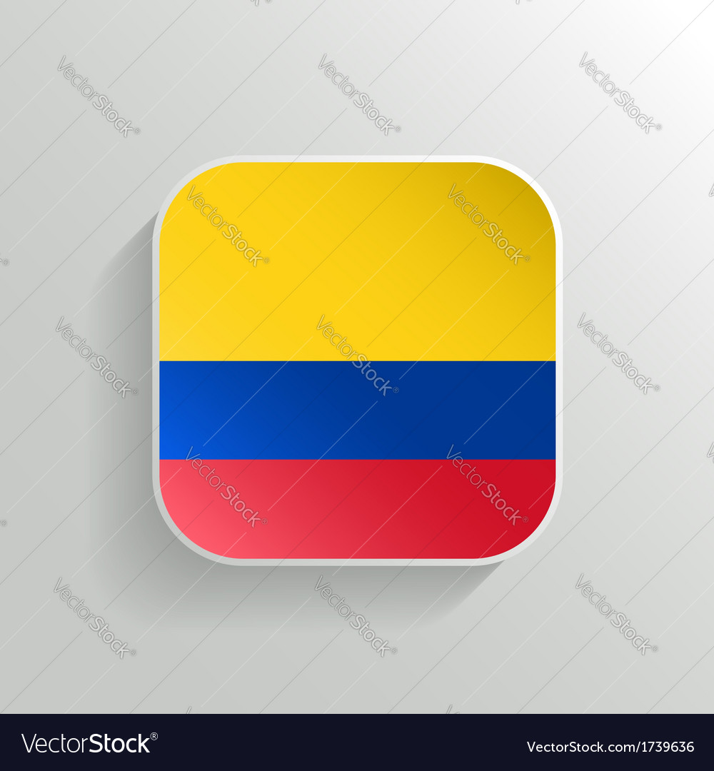 Button - colombia flag icon vector | Price: 1 Credit (USD $1)