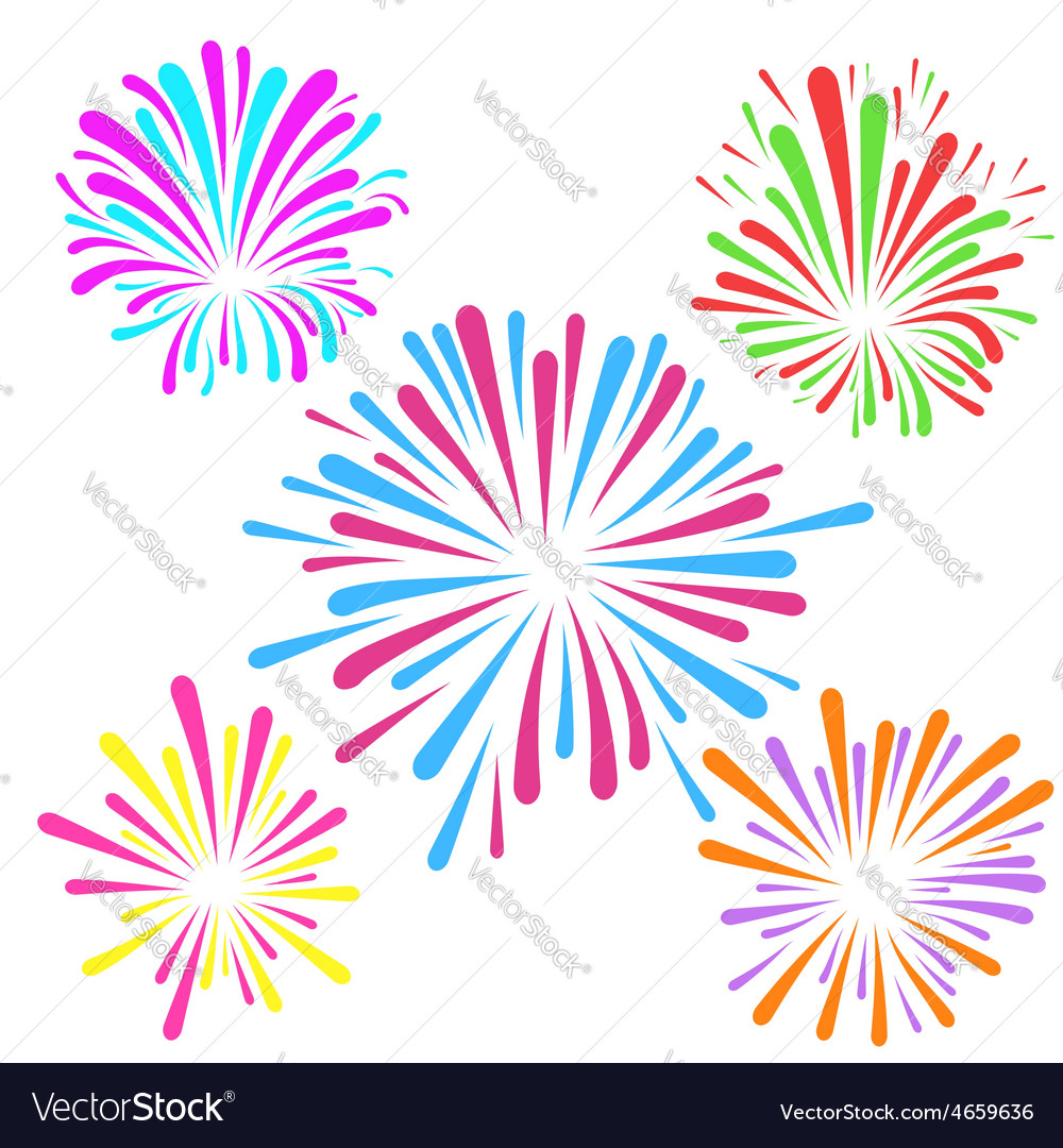 Festive fireworks pattern template layout vector | Price: 1 Credit (USD $1)