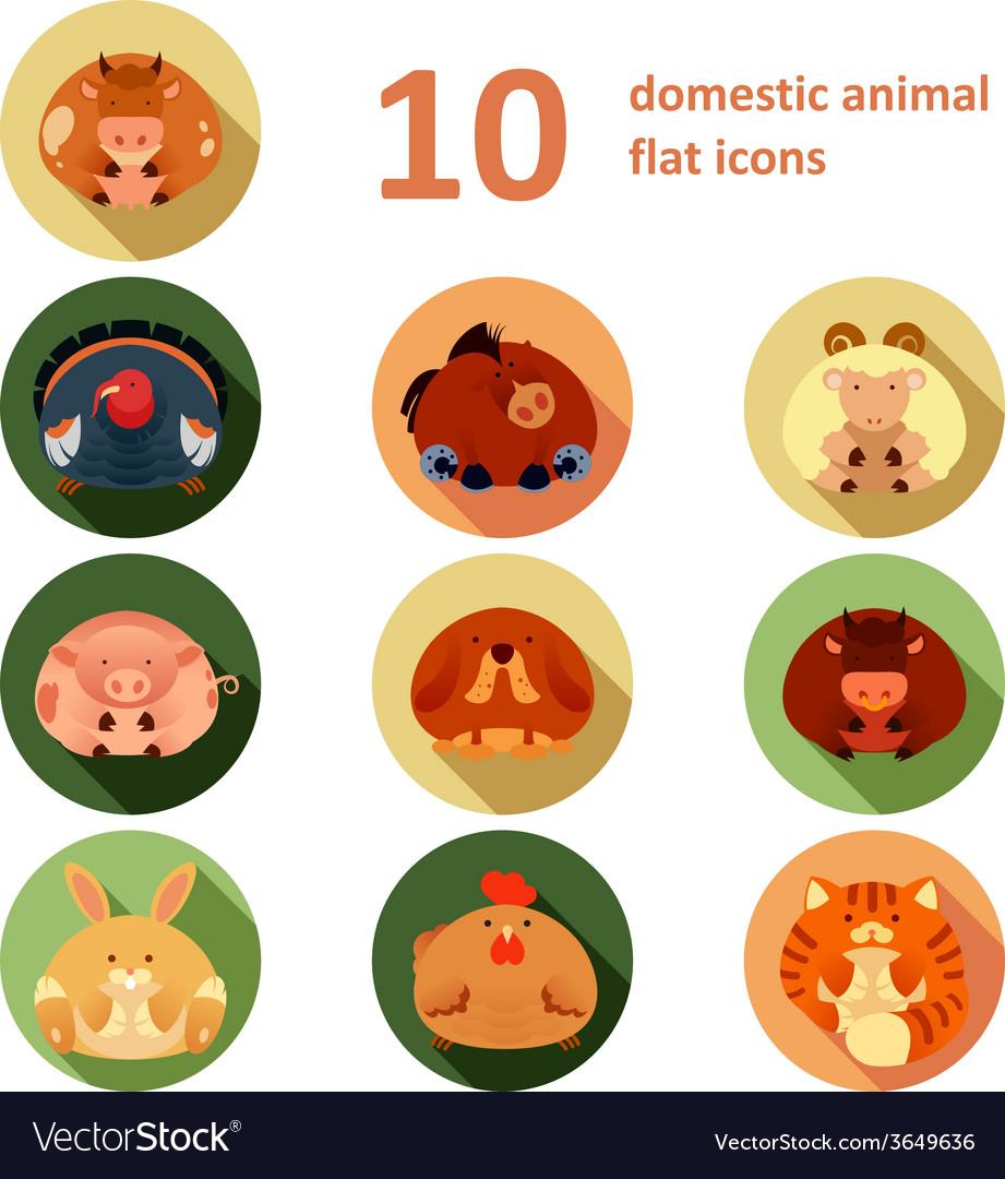 Flat animals vector | Price: 1 Credit (USD $1)