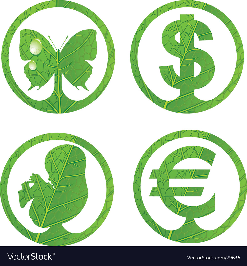 Green emblem vector | Price: 1 Credit (USD $1)