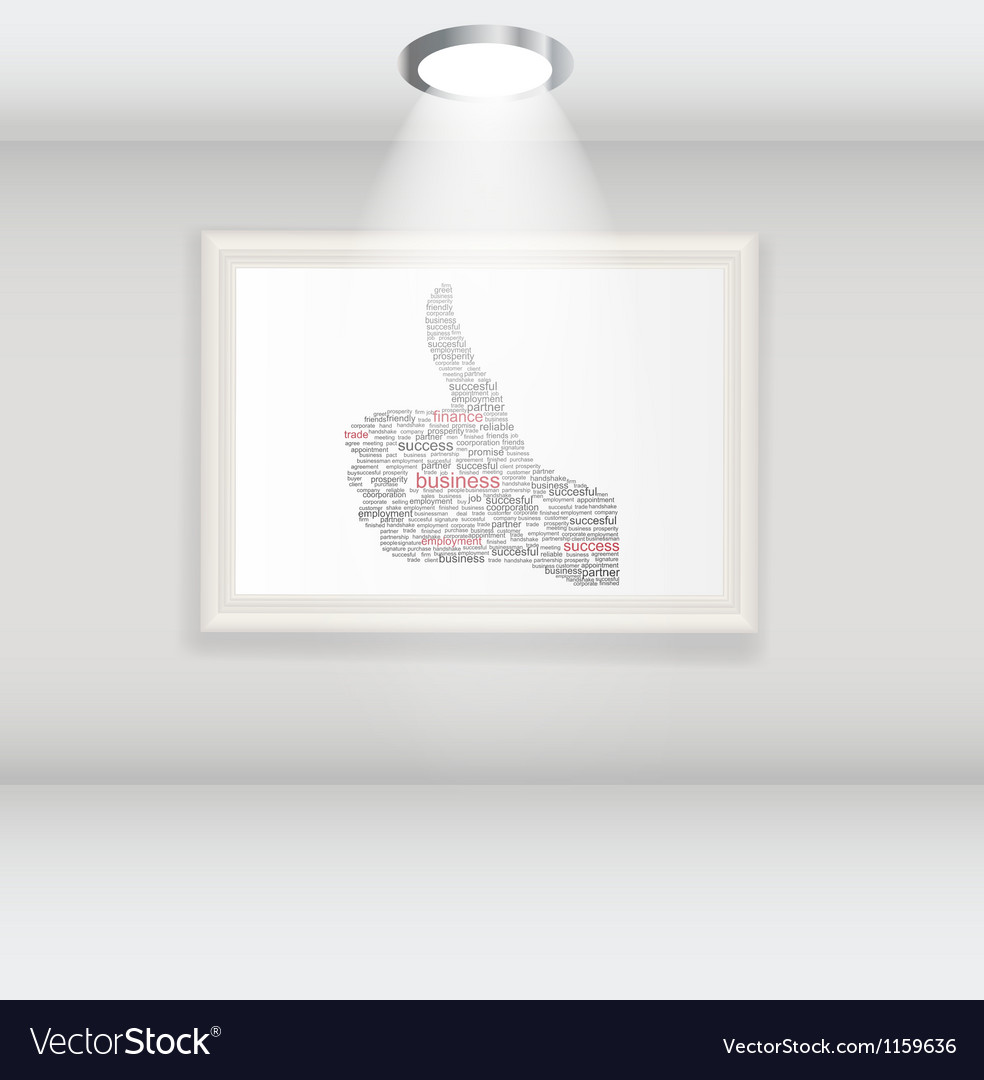 Hand signal on white frames in art gallery vector   Price: 1 Credit (USD $1)