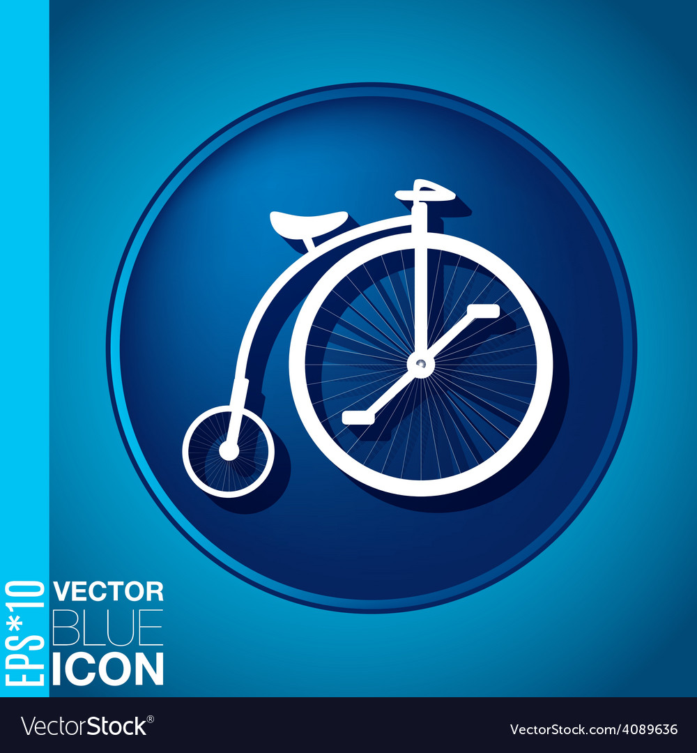 Retro bicycle icon vector | Price: 1 Credit (USD $1)