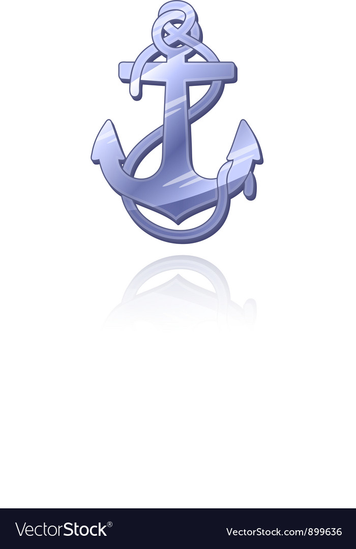 Silver anchor vector | Price: 1 Credit (USD $1)