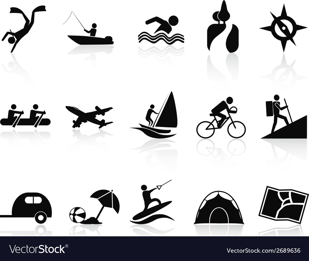 Summer activities icons set vector | Price: 1 Credit (USD $1)