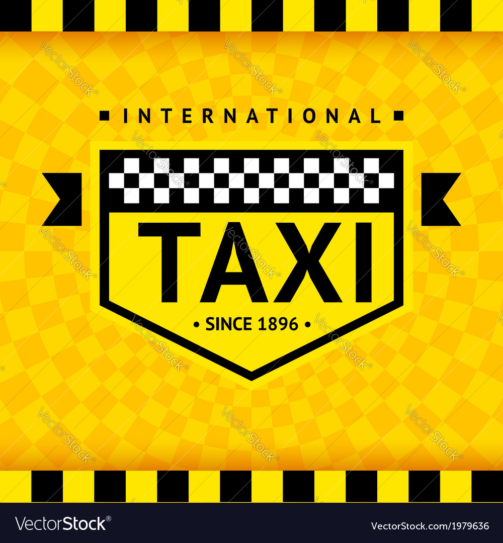 Taxi symbol with checkered background - 08 vector | Price: 1 Credit (USD $1)