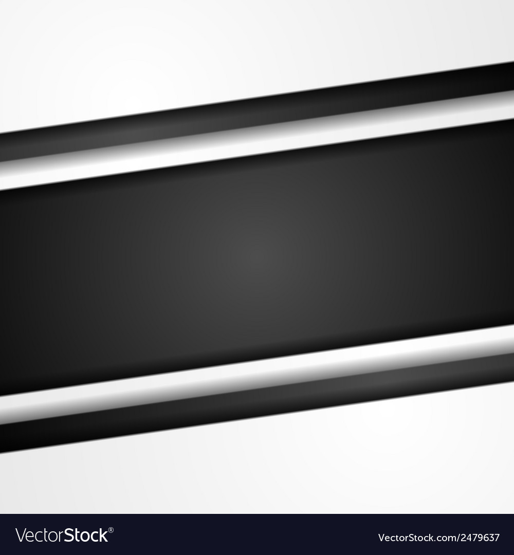 Abstract black and white corporate template vector | Price: 1 Credit (USD $1)