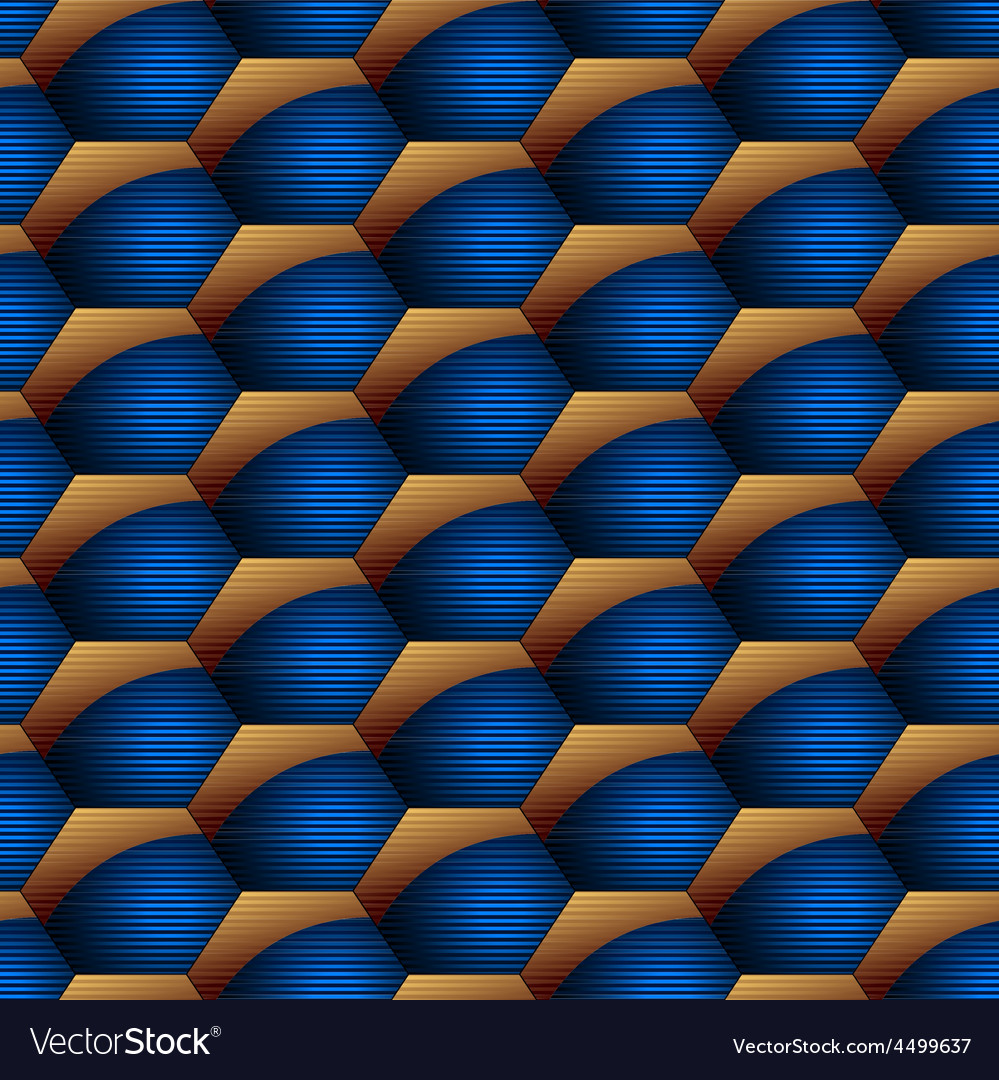 Abstract hexagon striped seamless pattern vector | Price: 1 Credit (USD $1)