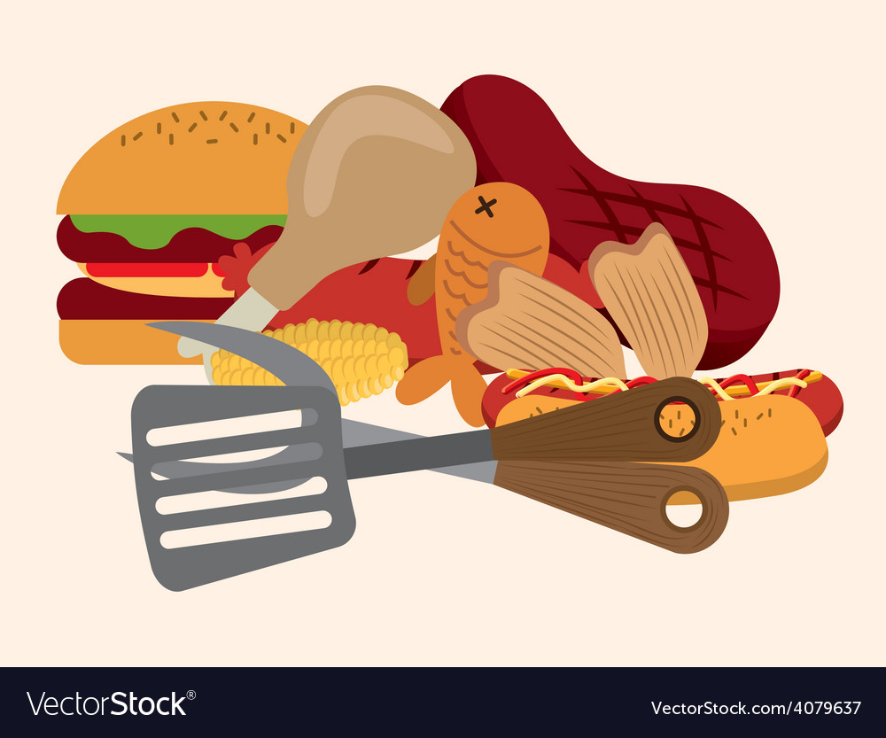Barbecue vector | Price: 1 Credit (USD $1)
