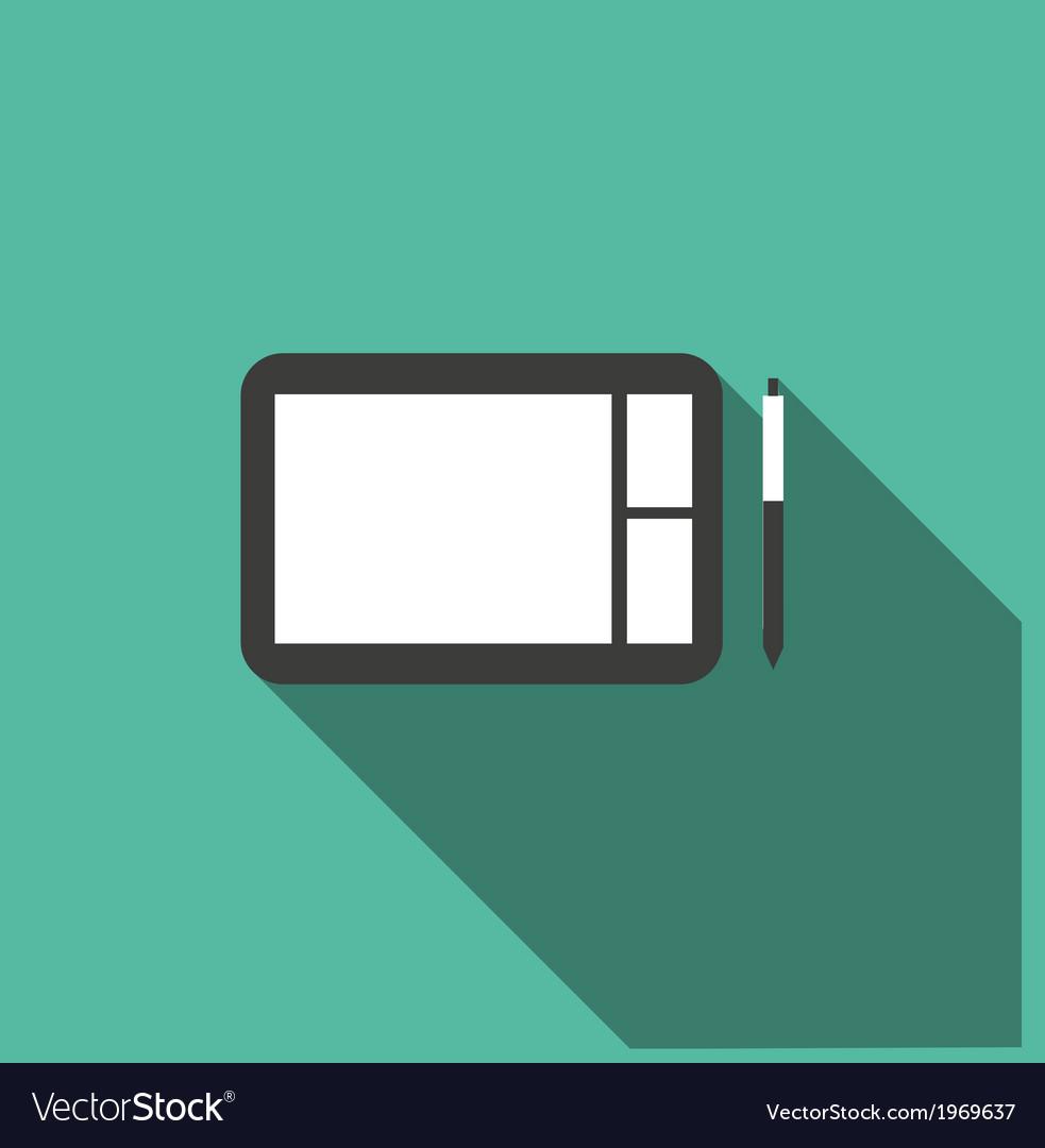 Digital sketchpad icon vector   Price: 1 Credit (USD $1)