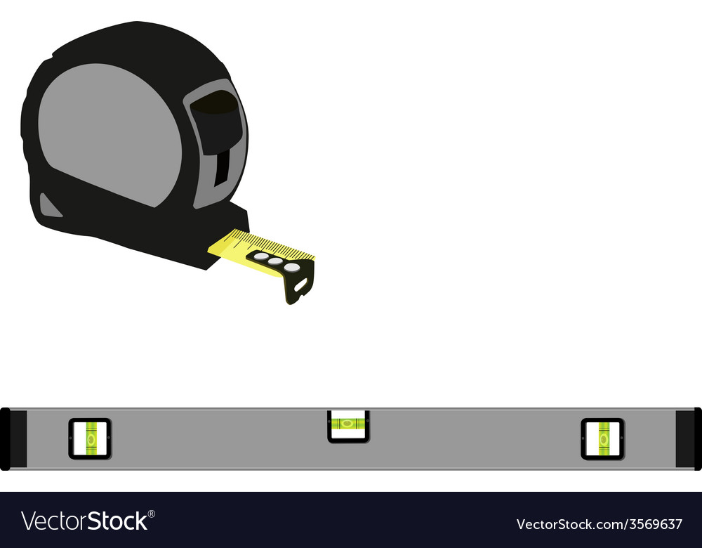 Grey level construction and tape measure vector | Price: 1 Credit (USD $1)