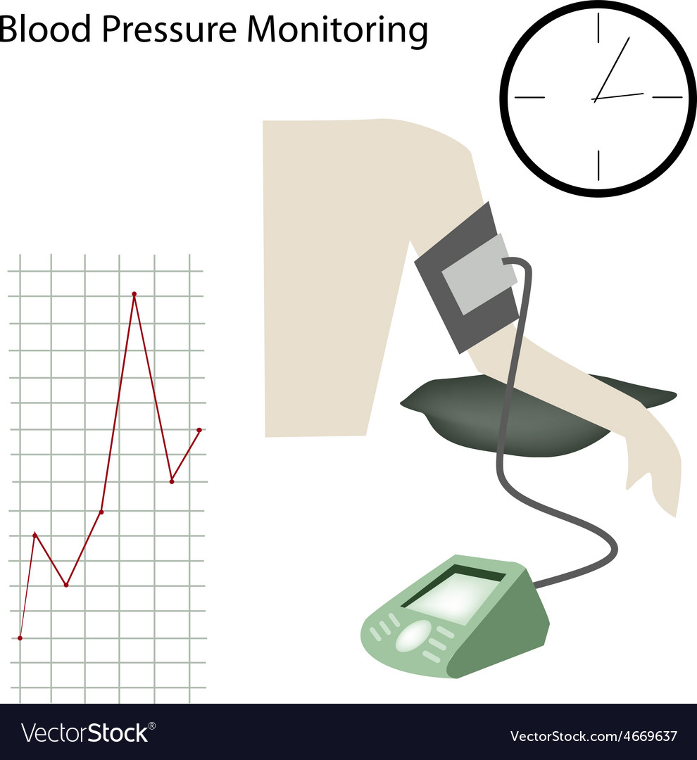 Patient with blood pressure on white background vector | Price: 1 Credit (USD $1)