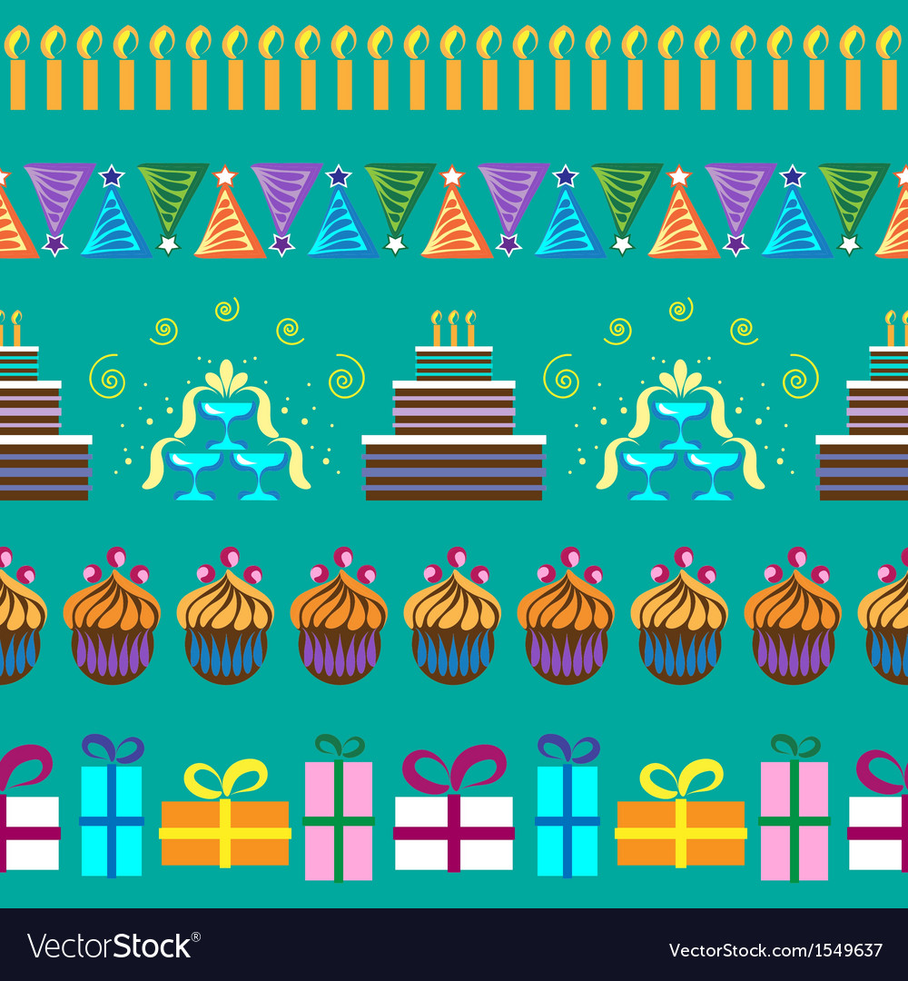 Pattern with party elements vector | Price: 1 Credit (USD $1)