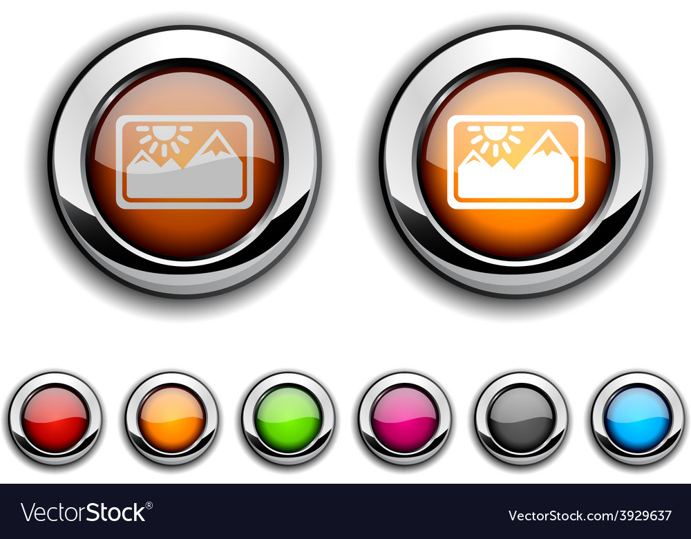 Picture button vector | Price: 1 Credit (USD $1)