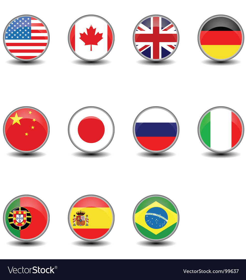 Round flags vector | Price:  Credit (USD $)