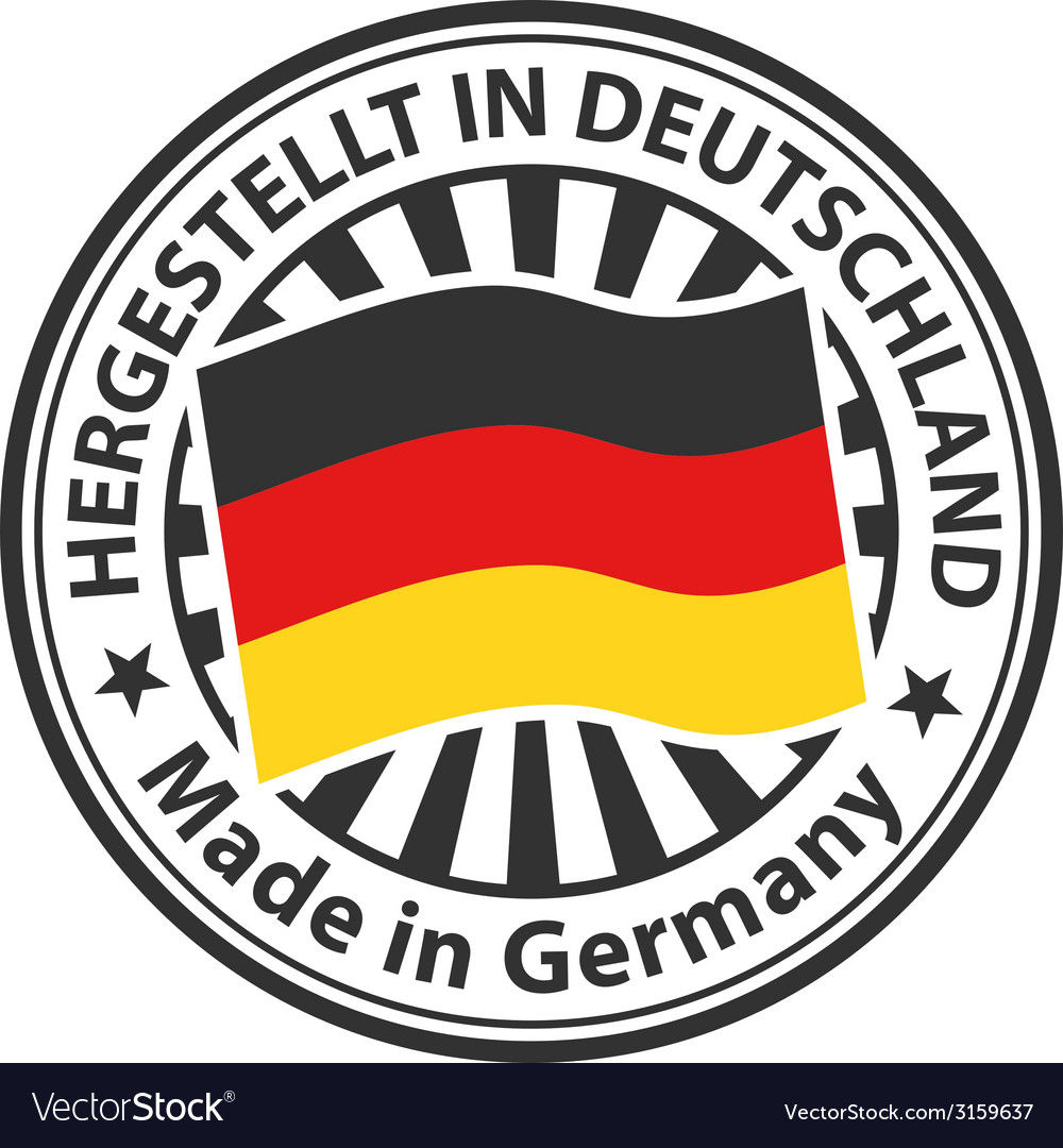 Sign made in germany hergestellt in deutschland vector
