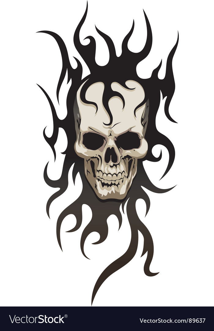 Skull tribal tattoo vector | Price: 1 Credit (USD $1)