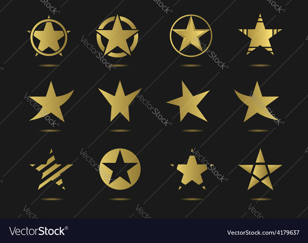 Star logo icon set vector | Price: 1 Credit (USD $1)